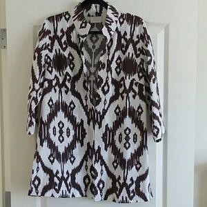 Chico's Open Front Linen Jacket